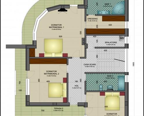 etaj Casa Mărculescu modificată