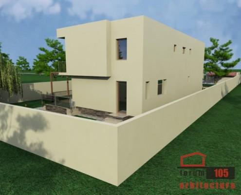 Proiect casa pe lot ingust