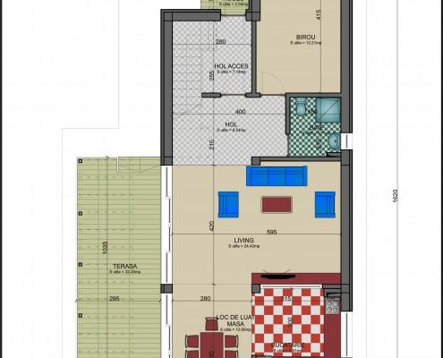 Proiect casa pe lot ingust plan parter