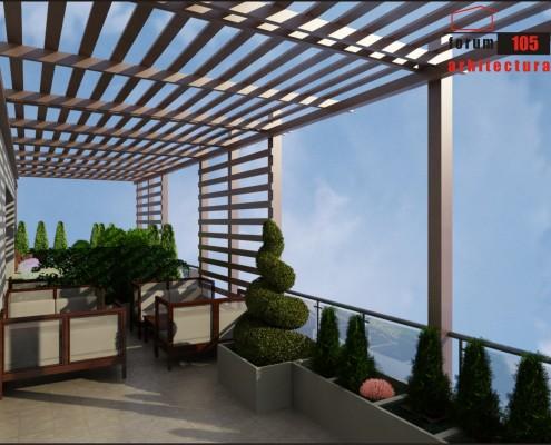 model pergolă pe terasă