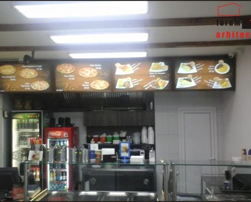 bucătărie restaurant cu menu