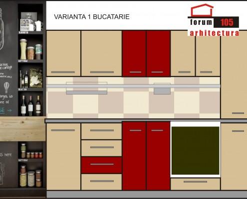 proiect amenajare bucătărie 2d