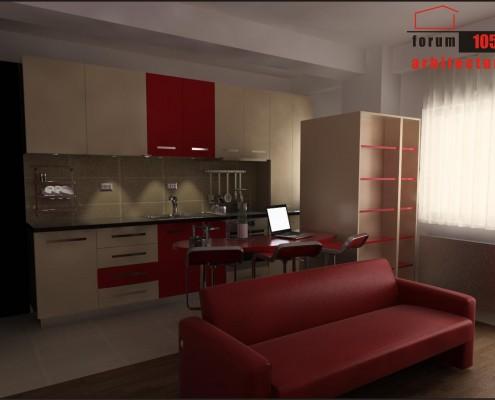 proiect amenajare bucătărie 3d