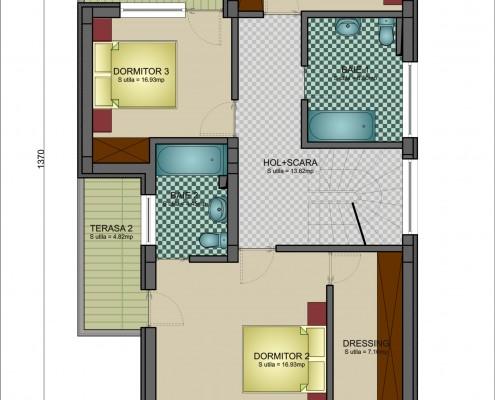 Proiect de casa plan etaj