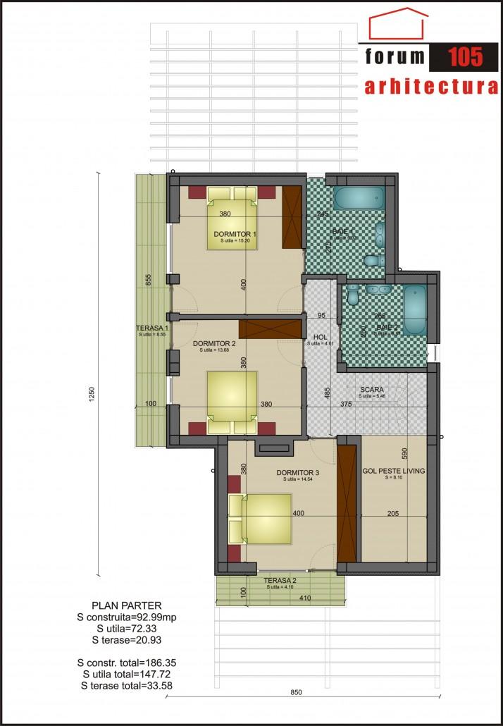 Proiect Casa Rustic etaj