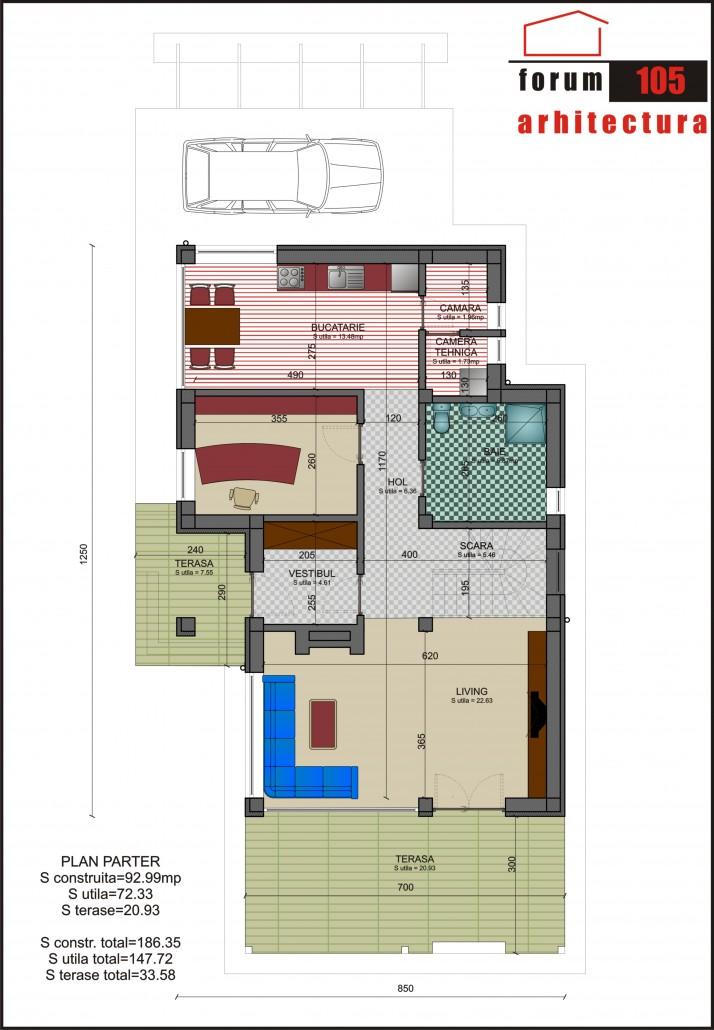 Proiect Casa Rustic parter