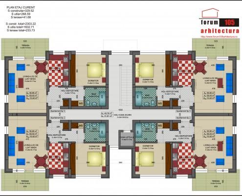 plan etaj curent anl-uri Curtea de Argeș
